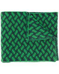 Drumohr Razor Blade Knitted Scarf - Green