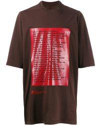 Rick Owens Drkshdw プリント Tシャツ - マルチカラー