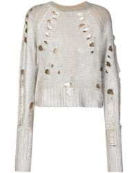 Zoe Jordan - Euler Holey Cropped Jumper - Lyst