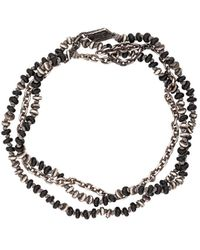 M. Cohen Beaded Onyx Necklace - Metallic