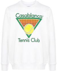 CASABLANCA Tennis Club スウェットシャツ - ホワイト