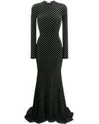 Balenciaga Вечернее Платье В Горох - Черный