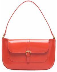 BY FAR Miranda Buckled Shoulder Bag - Red
