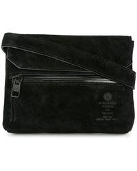 AS2OV Flap Shoulder Bag - Black