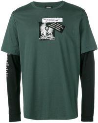 DIESEL - Layer Effect Longsleeved T-shirt - Lyst