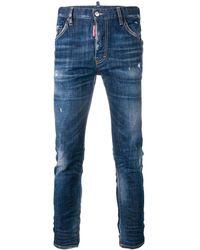 DSquared² Sexy Twist Gescheurde Jeans - Blauw