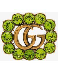 Gucci Брошь С Логотипом Double G - Многоцветный