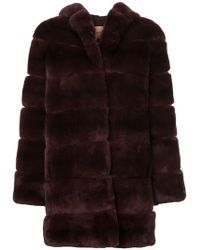 Yves Salomon Oversized Coat - Multicolour