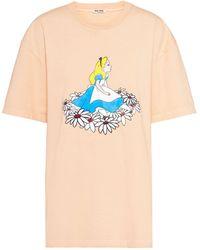 Miu Miu Alice In Wonderland Tシャツ - オレンジ