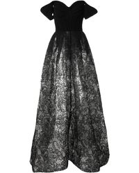 Saiid Kobeisy オープンショルダー ドレス - ブラック