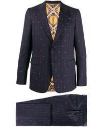 Gucci Interlocking G Stripe Suit - Blue