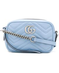 Gucci Мини-сумка Через Плечо GG Marmont - Розовый