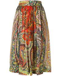 Etro - Patterned Skirt - Lyst