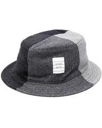 Thom Browne Flannel Bucket Hat - Grey
