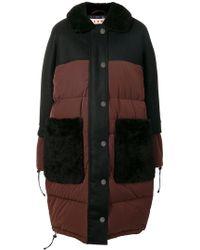 Marni - Shearling Collar Padded Coat - Lyst