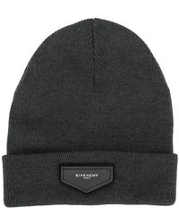 Givenchy - Logo Plaque Beanie - Lyst