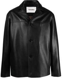 Nanushka Arto Leather Jacket - Black