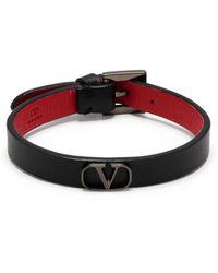 Valentino Garavani Браслет С Логотипом Vlogo - Черный