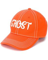 Heron Preston Ghost Contrast-stitching Cap - Orange