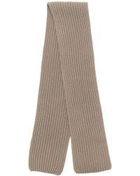 Neil Barrett Ribbed Knit Scarf - Brown
