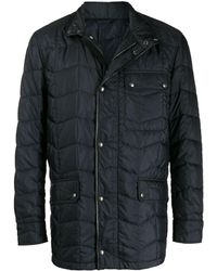 Ferragamo Quilted Jacket - Blue