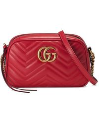 c24c9fcbbb9c6e Gucci - GG Marmont Small Matelassé Shoulder Bag - Lyst