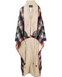 DSquared² Oversize Plaid Coat - Multicolor