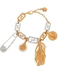 Versace Greca Charms Bracelet - Metallic