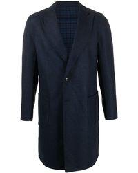 Etro シェブロン シングルコート - ブルー