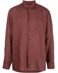 Transit ポインテッドカラー リネンシャツ - レッド