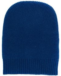 N.Peal Cashmere Ribbed Knitted Beanie - Синий