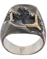 Tobias Wistisen Ring Met Vierkant - Metallic