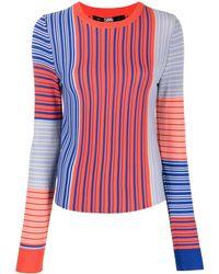 Karl Lagerfeld ストライプ セーター - オレンジ