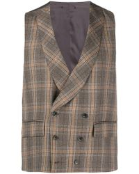 Gabriele Pasini - Checked Double Breasted Waistcoat - Lyst