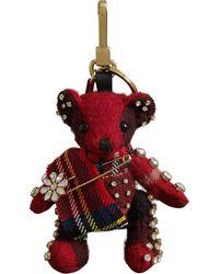 Burberry Thomas Bear Charm Met Kilt Pin - Rood