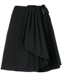 Alberta Ferretti - Pleated Detail Skirt - Lyst