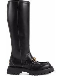 Gucci Horsebit-detail Knee-high Boots - Black