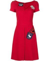 Boutique Moschino ジャカード ドレス - レッド