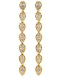 Anita Ko - Boucles d'oreilles pendantes en or 18ct et diamants - Lyst