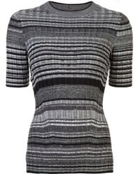 Helmut Lang - Striped Fitted T-shirt - Lyst