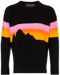 The Elder Statesman 'Alpine Sunset' Kaschmirpullover - Schwarz