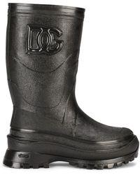 Dolce & Gabbana Logo-embossed Boots - Black