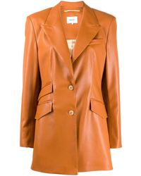 Nanushka 'Cancun' Jacke aus veganem Leder - Orange