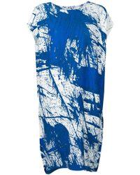 Issey Miyake Robe plissée - Bleu