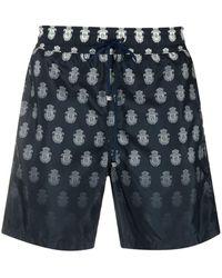 Billionaire Logo-print Swim Shorts - Blue