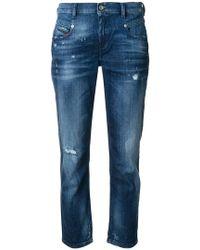 DIESEL - Belthy Ankle Jeans - Lyst