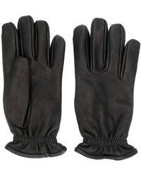 Orciani Handschuhe aus gekörntem Leder - Schwarz