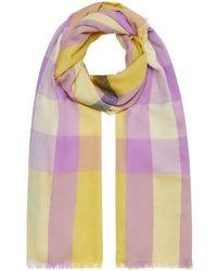 Burberry Écharpe en cachemire à carreaux - Multicolore