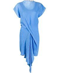 Nina Ricci フロントギャザー ドレス - ブルー