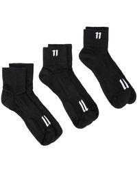 Boris Bidjan Saberi 11 11-logo 靴下 - ブラック